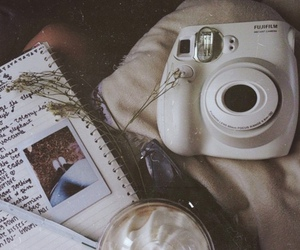 grunge, polaroid, and book image