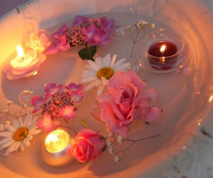 flowers, candle, and rose image