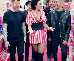 demi lovato, andy hurley, and fall out boy image