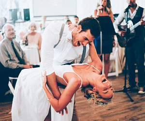 bride, dance, and happiness image