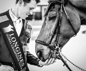 black&white, horses, and the winner image