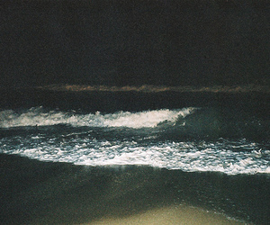 sea, night, and beach image