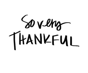 quote and thankful image