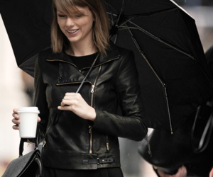 Taylor Swift, black, and umbrella image