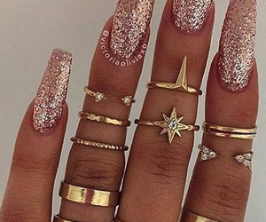 accessories, girl, and glitter image