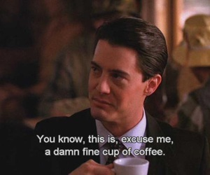 agent cooper, coffee, and Twin Peaks image