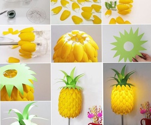 diy, pineapple, and lamp image