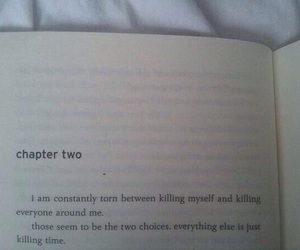 book, quotes, and sad image