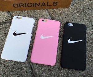 nike, pink, and black image