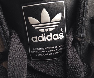 black, adidas, and fashion image