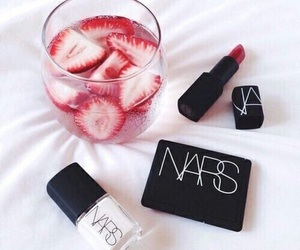 nars, makeup, and strawberry image