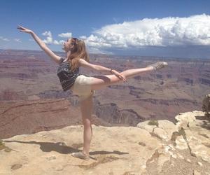 dance, arabesque, and ballerina image