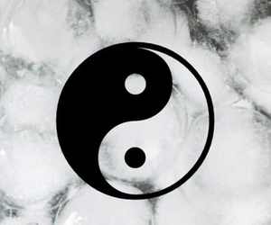 pale, grunge, and ying yang image