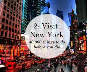 new york, city, and lights image