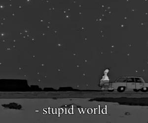 world, stupid, and simpsons image