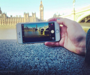 london, phone, and photo image