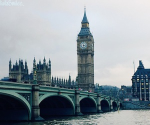Big Ben, bridge, and clock image