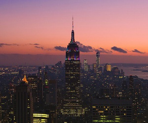 city, travel, and empire state building image
