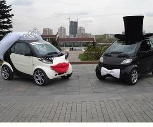 car, wedding, and funny image