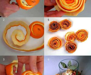 orange, diy, and flowers image