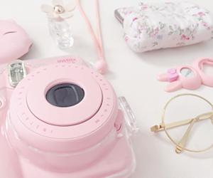 camera, pastel, and pink image