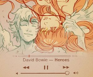 art, david bowie, and icarus image