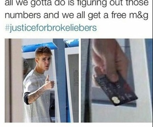 funny, justin bieber, and credit card image