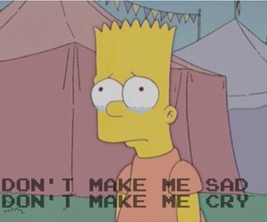 sad, cry, and bart image