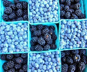 fruit, blue, and food image