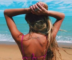 beach, hair, and paradise image