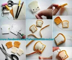 cute, diy, and bread image