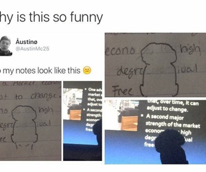 class, funny, and notes image