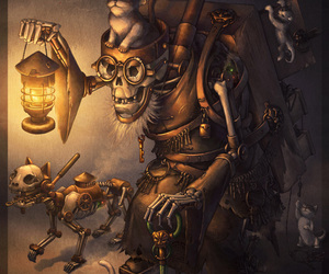 cat, kitten, and steampunk image