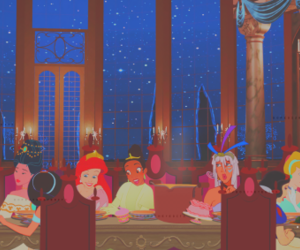 ariel, aurora, and belle image