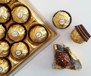 chocolate, food, and gold image