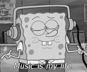 black and white, cartoon, and music image