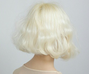 beige, hair, and girl image