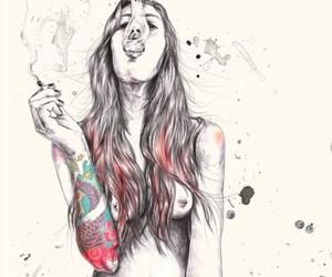 art, girl, and high image