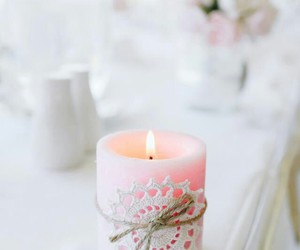 beauty, pink, and candle image