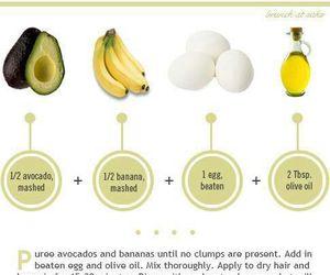 hair, banana, and avocado image