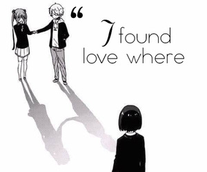 anime, black and white, and sad quotes image