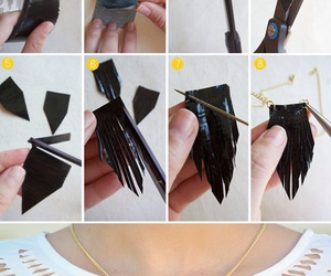 diy, necklace, and tutorial image