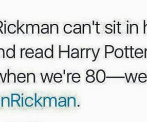 alan rickman, books, and harry potter image