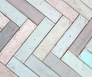 pastel, floor, and wood image