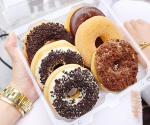 chocolate, donuts, and delicious image