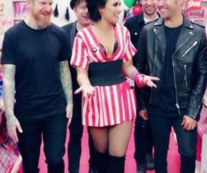 demi lovato, fall out boy, and OMG image