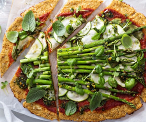 pizza, food, and green image