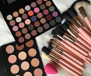 brush, collection, and make up image