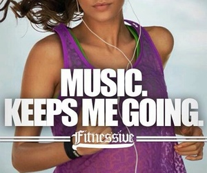 music, fitness, and fit image