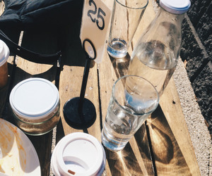 drink, coffee, and water image